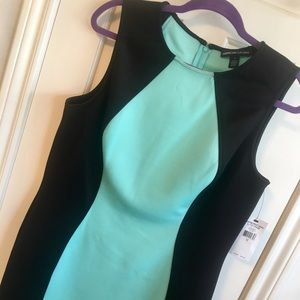 Two tone structured dress